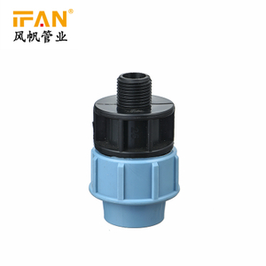 Male Adaptor 20mm-110mm HDPE Pipe Fitting Light blue Polyethylene Fitting