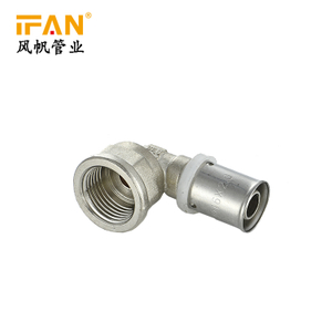 Female Elbow Thread Connecting Brass 58-3 High Quality Multipress Fitting for Pex Pipe