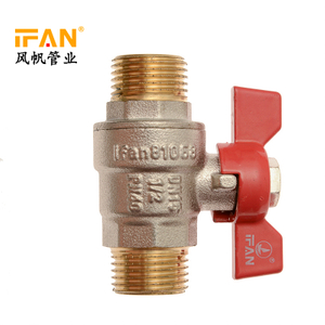 Double Male Thread Brass Ball Valve