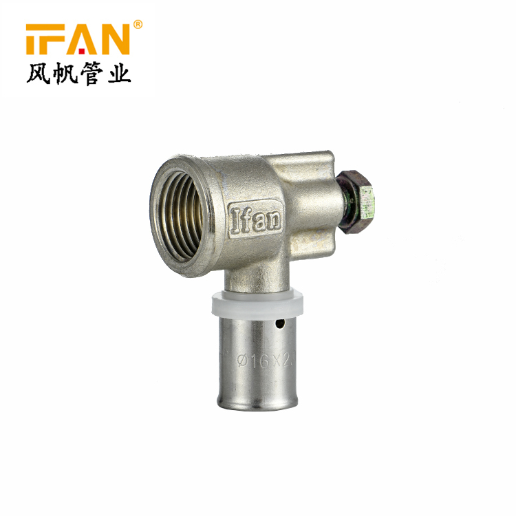16*1/2inch PEX Press Double Elbow Brass Fitting Double Elbow 18mm*1/2inch Copper Elbow PEX-AL-PEX Elbow