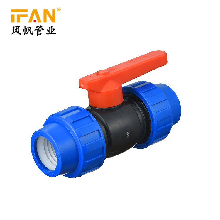 HDPE Fittings Blue MDPE Pipe Fittings Coupling PN16 HDPE Compression Coupler Plastic PP Thread Irrigation Pipe Quick Connector