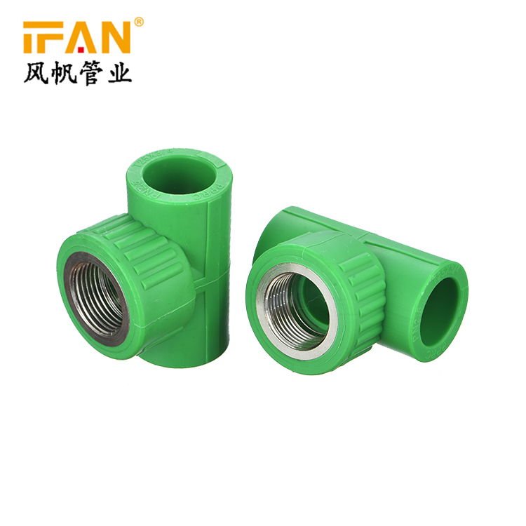 PPR Female Tee 20×1/2F 25×3/4F 32×1″F PPR Fitting Female Tee