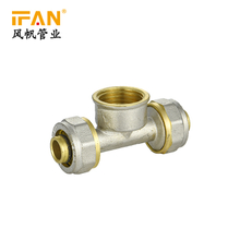 PEX Fitting Brass Female Tee 16mm 20mm 32mm Pex Brass Fitting Female Tee