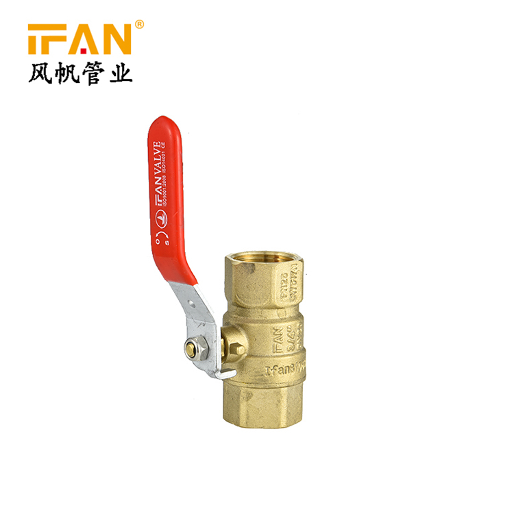 YELLOW BRASS BALL VALVE