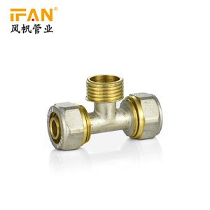 PEX Male Tee Brass Fitting Male Thread Tee