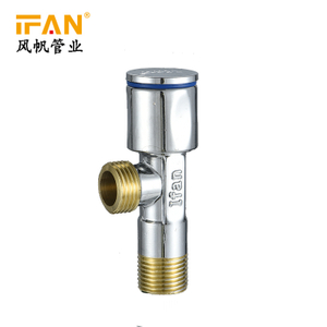 Brass material 90 degree angle valve water toilet bathroom shower angle valve