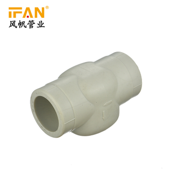 PPR Check Valve Plastic Factory price plastic tube pipe and fitting green grey color water pipe fitting