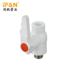 PPR Male Brass Ball valve White Color PPR Fitting