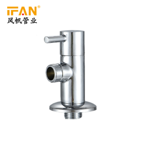 Wash Basin Angle Valve Bathroom Brass Angle Valve 2 Way 1/2inch Chromed Wall Mounted Toilet Water Stop Valve