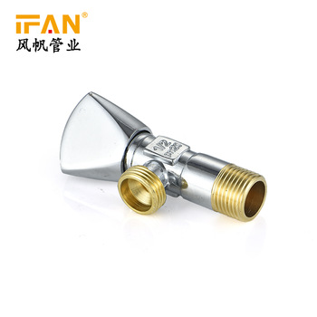 "Brass Triangle Valve 1/2"" Angle Valve for Toilet Copper Faucet Bathroom Accessories Brass Valve"