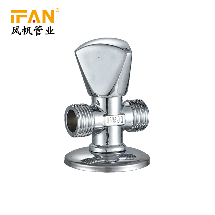 High Pressure Design Toilet Water 90 Degree 1/2 3/4 Brass Angle Valve 3 Way Sanitary Angle Valve