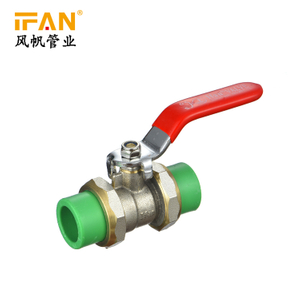 Brass Double Union Ball Valve(Iron Core)
